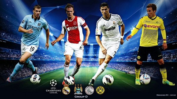 Falanqeynta UCL Group D Man City Vs Dortmund Madrid Vs Ajax